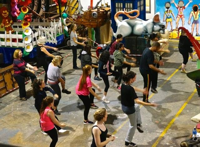 Dance rehearsals at the Beat Carnival Centre